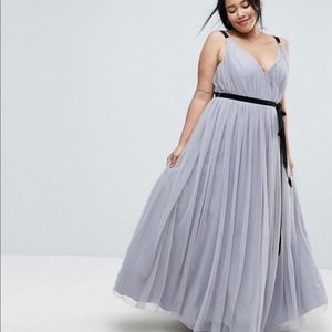 ASOS tulle maxi dress